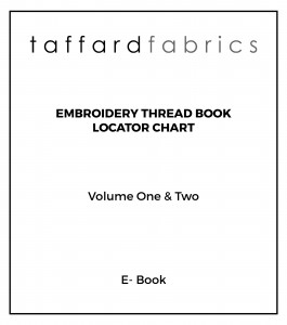 Embroidery thread locator chart